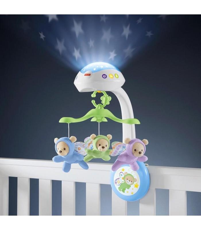 Movil para cuna ositos voladores de fisher price con proyector de luz - Movil para cuna bebe ...
