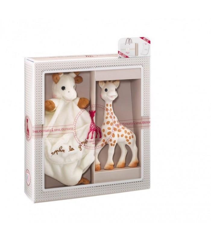 set de regalo sophie la girafe doudou con agarra chupete. Black Bedroom Furniture Sets. Home Design Ideas