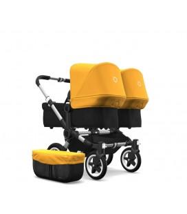 Bugaboo Donkey 2 Twin Gemelar Aluminio negro amarilla