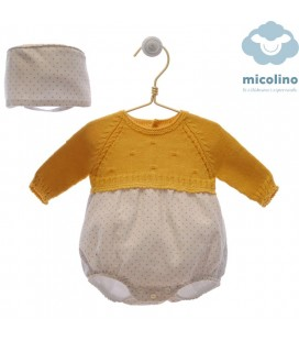 Pelele bebe con capota HUGO de MICOLINO