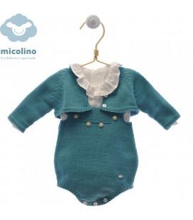 Conjunto Peto punto con blusa y rebeca Hector de Micolino