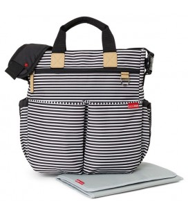 Bolso Skip Hop duo Black White Stripe