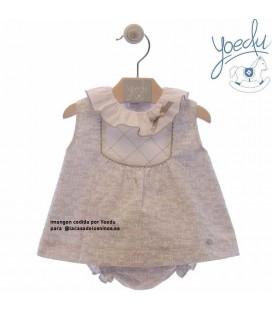 Vestido bebé rayas Buganvilla de Yoedu