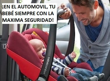 ¡Sillas de automóviles para el bebé, con la seguridad no se juega!