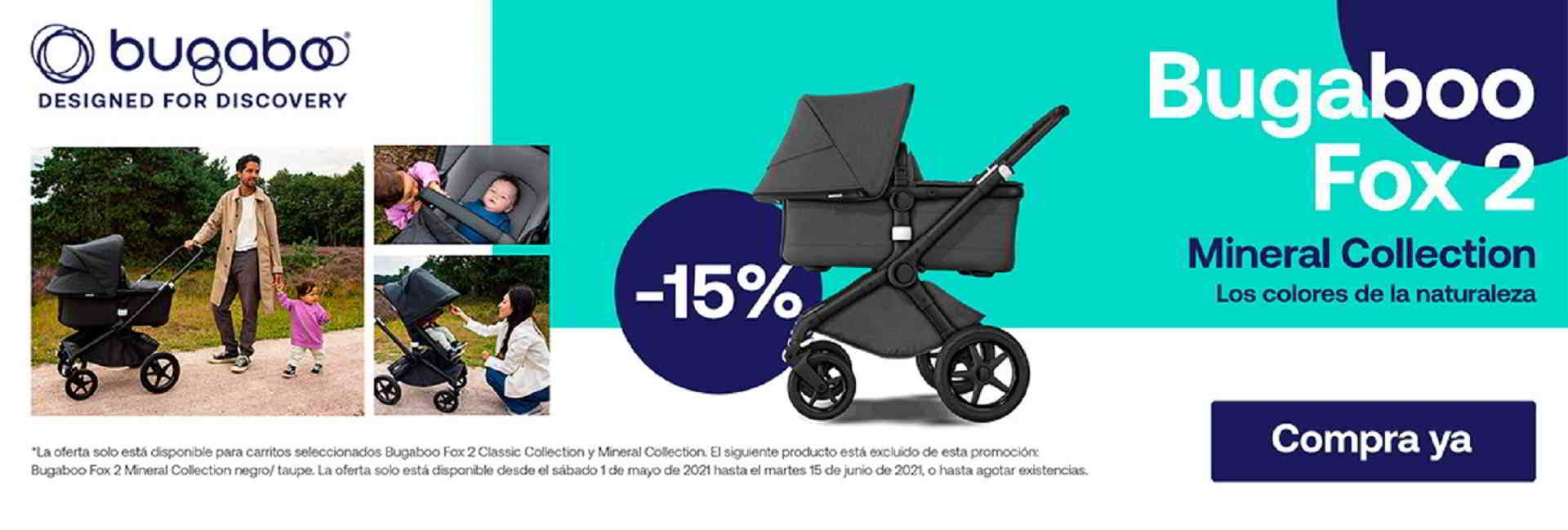 PROMOCION BUGABOO FOX 2 MINERAL COLLECTION 15% DE DESCUENTO