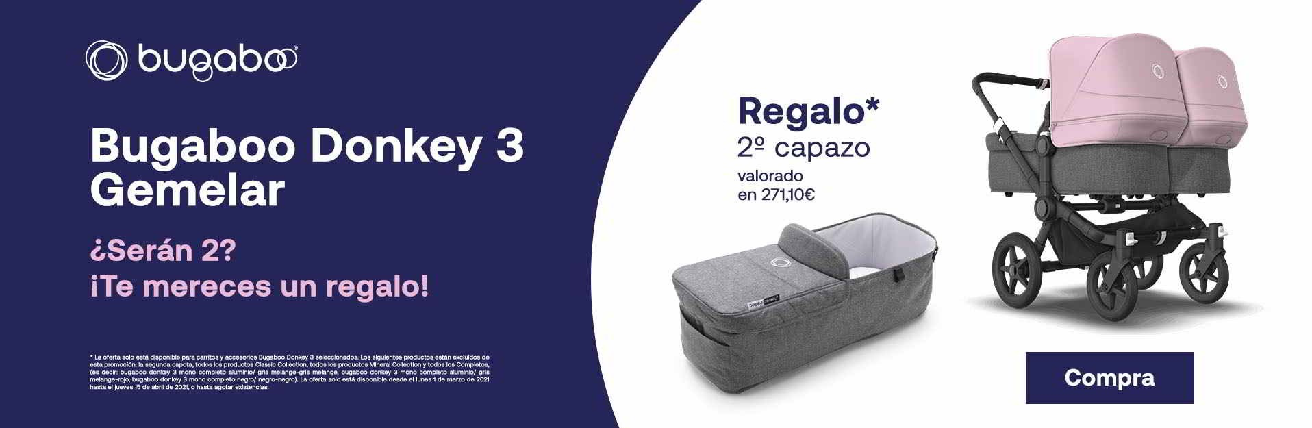 TE MERECES UN REGALO BUGABOO DONKEY 3 GEMELAR